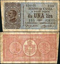 Buono di Cassa da 1 Lira 21/9/1914 Dell'Ara - Righetti