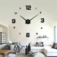 Home Wall Clock Watch 3D Sticker Acrylic Modern Time Gadget Quartz Needle Clocks