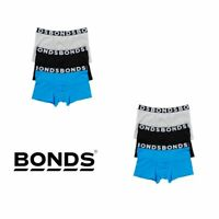 6 x Bonds Mens Everyday Stripe Trunks - Blue / Grey / Black