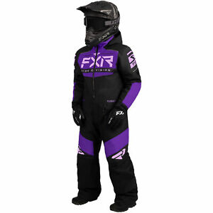 FXR Black/Purple/Lilac Youth Helium Monosuit HydrX Insulated F.A.S.T. Thermal