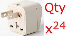 Europe EU UK AU to US USA Adapter Converter Plug 24pk American style