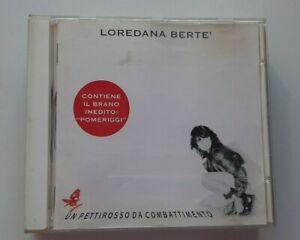 LOREDANA BERTE UN PETTIROSSO DA COMBATTIMENTO 11 TRACCE  CD