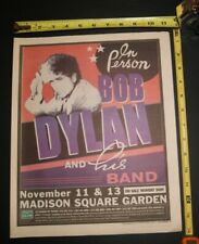 Bob Dylan 3pc 2002 Concert Ad  w/ 2 Concert Review Lot Msg Nyc