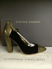 Cynthia Vincent Larkin Women's Pointed Toe Heels Ankle Strap Shoes US 7