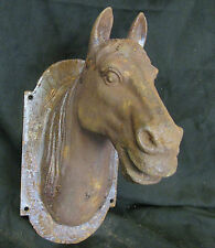 Pferdekopf, Pferdebüste Sockel Pferd Eisen, Konsole, Wandmontage