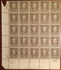 Scott 551, 1/2c Hale, siderographer D.L. (David Lorenz) NH pl #17033 blk(25) XF!