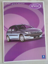 Peugeot 206 Special Editions Fever & Allure range brochure Dec 2003