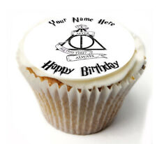Cupcake Topper Harry Potter ALWAYS personalised Rice, Icing sheet 924