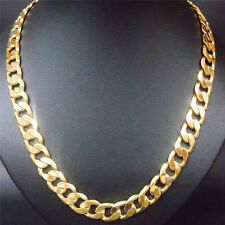 "Unisex 18K Gold Filled Solid Cuban Curb Chain 24 ""x5mm HEAVY & CHUNKY JUST IN !"