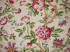 Jay Yang Jacobean Floral ECRU Jacquard Home Decor Cotton Drapery Sewing Fabric