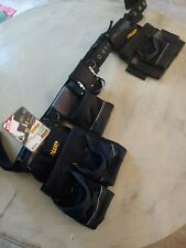 AWP Heavy Duty Construction Tool Belt With Large Pouch's & Padded Belt ~NEW~