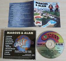 RARE CD ALBUM MARCUS & ALAN FRANCE & POLAND TOUR 10 TITRES 1997 COUNTRY