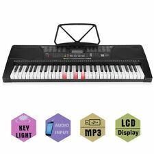 61 Leucht Tasten Keyboard E-Piano Lern Klavier 255 Sounds & Rhythmen USB MP3 BEA