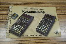 Bref instructions de Texas Instruments TI 58/59 programmable ml-24 Calculatrice