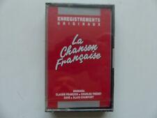 K7  La chanson francaise BARBARA TRENET CLAUDE FRANCOIS CHAMFORT  PUB ESSO