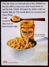1968 Kraft Cheez Whiz macaroni and cheese photo vintage print ad