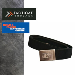 REGATTA Stretch Workwear Belt Metal Snap Lock Buckle Black Webbing Adjustable
