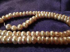 Beautiful 5 mm Fresh Water Pearls (Mauve) 1 strans P lot 009