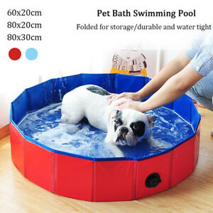 Portable Pet Bath Swimming Pool Foldable Dog Cat Bathing Tub CollapsibleB Sk