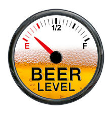 Beer Meter Gauge Vinyl Decal Sticker Funny Warning Cooler Refrigerator Fuel Joke