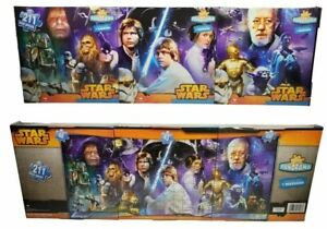 """Star Wars Original Trilogy 3-in-1 Panoramic Puzzle Set (34"""" x 15"""") Sealed/New"""