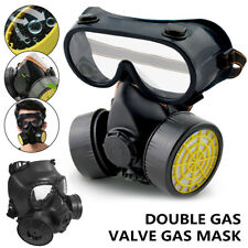 Emergency Survival Safety Respiratory Gas Mask 2 Dual Protection Filter&glass RT
