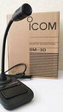 NEW Icom SM-30 Desktop Microphone 8P Ham Radio from JAPAN