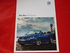 "Vw eos ""GT Sport"" colección folleto de 2009"