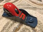 Vintage Stanley G12-247 Low Angle Block Plane Tool Woodworking Red Blue England
