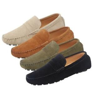 Mens Breathable Father Loafers Outdoor Comfort Moccasin Slip On Boat Shoes Pumps