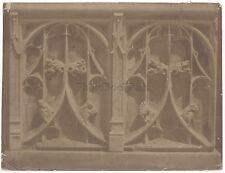 Bisson Frères Détail d'architecture gothique France Vintage Albumine ca 1865