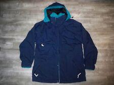 VTG Eddie Bauer GORE-TEX Blue Rain Full Zip Hood Parka Puffer Jacket Size XLarge
