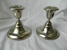 "Egyptian Brass Silver Plated Candle Holder Set of Two 4.75"" High Sale!!!"