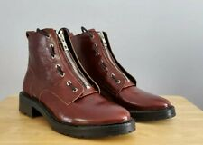 Rag and Bone Women's Leather Cannon Combat Boots- Burgundy Red, size 39