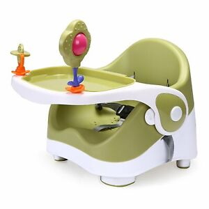 Travel Feeding Booster Seat Toddler Highchair Portable Travel High Chair, Green