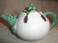 Vintage Hand-Crafted Art Pottery Clay Crazed Signed Frog Lily Pad Tea Pot~Brady?