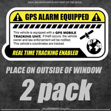 2x GPS tracking sticker anti theft / decal / vehicle security / outside window