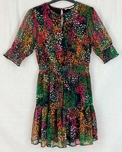 MICHELLE KEEGAN Womens Multi Fit & Flare Dress Size 12