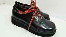 NWOT Tommy Hilfiger Boys Black Leather Laced Up Dress Shoes  Size 13