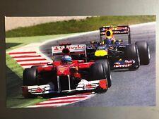 2012 Fernando Alonso'S Ferrari Fórmula 1 Estampado, Imagen, Póster, Raro