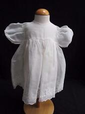 VINTAGE 1930's WHITE MUSLIN & FLORAL EMBROIDERED YOUNG GIRLS DRESS