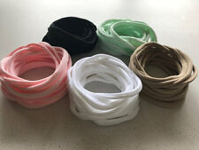 10 Pack Nylon Elastic Headbands Two Sizes 10+ Colours Newborn up