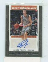 JAKOB POELTL 2019-20 Panini NBA Hoops Great SIGnificance Auto Autograph #GS-JKP