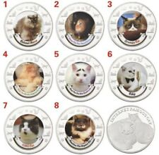 More details for cute cat animal coins - 8 different cats onto 8 different coins, cat lovers