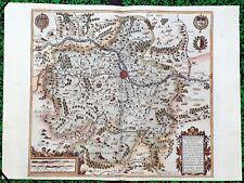 XVII ème - Metz Le Pays Messin Superbe Carte par Jean Le Clerc Editée en 1617