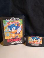 Sonic the Hedgehog (Sega Genesis, 1991) Not for Resale, Original