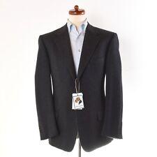 Ermenegildo Zegna Sakko Jacket Gr 52 Fischgrätenmuster Herringbone Wolle Grau