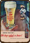 1955 NATIONAL BOHEMIAN BEER BARTENDER Vintage-Look DECORATIVE REPLICA METAL SIGN