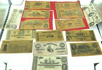 .JOB LOT FACSIMILE / REPRODUCED US CONFEDERATE NOTES / SCRIPT.