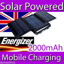 Energizer Sp2000 Solar Red Móvil Cargador Batería Power Pack Iphone Ipod